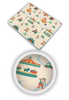 Spieldecke-Babydecke-Playmat-CIRCUS-Spielteppich-Kinderteppich-Krabbeldecke