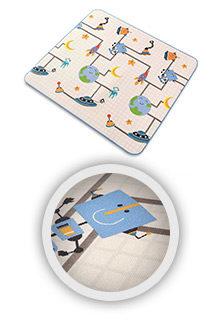 Spielteppich-Kinderteppich-Krabbeldecke-Spieldecke-Babydecke-Playmat-GALAXY