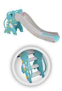 Kinderrutsche-Rex-tuerkis